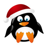 Cute penguin Santa Stock Photos