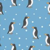 Cute penguin seamless pattern. stock illustration