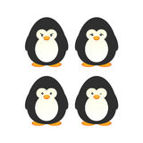 Cute penguin set Stock Image