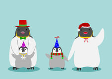 Cute penguin set Royalty Free Stock Images