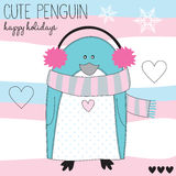 Cute penguin vector illustration Stock Photos