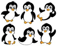 Cute penguins collection Royalty Free Stock Image