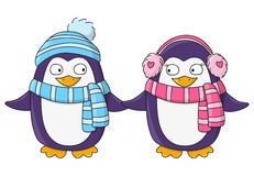 Cute penguins Royalty Free Stock Image