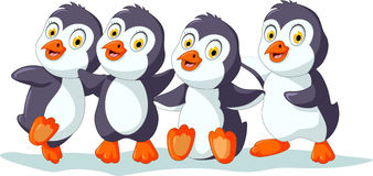 Cute penguins posing Stock Image