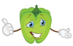 Cute pepper character cartoon. pepper vector illustration stock illustration