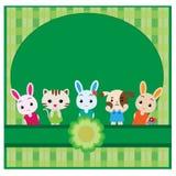 Cute pet background vector illustration