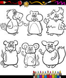 Cute pets cartoon coloring book Royalty Free Stock Photography