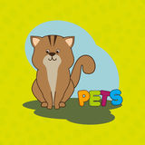 Cute pets design. Illustration eps10 graphic Stock Photos