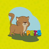 Cute pets design. Illustration eps10 graphic Royalty Free Stock Images