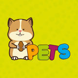 Cute pets design. Illustration eps10 graphic royalty free illustration