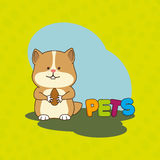 Cute pets design. Illustration eps10 graphic Royalty Free Stock Photo