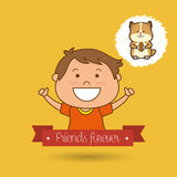 Cute pets design. Illustration eps10 graphic Royalty Free Stock Photos