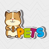 Cute pets design. Illustration eps10 graphic stock illustration