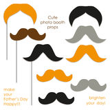 Cute photo booth props to make your Father`s Day really happy Royalty Free Stock Photo