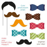Cute photo booth props to make your Father`s Day really happy Royalty Free Stock Photos