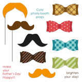 Cute photo booth props to make your Father`s Day really happy Royalty Free Stock Images
