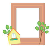 Cute photo frame Stock Images