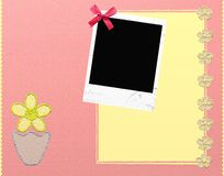 Cute photo frames. With glitter flowers vector illustration