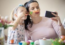 Cute photography for Easter royalty free stock photography