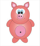 Cute pig.  Royalty Free Stock Photo