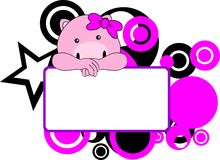 Cute pig baby girl copyspace Royalty Free Stock Photos