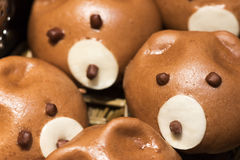 Cute pig baozi chinese steamed buns. In Chengdu, China Royalty Free Stock Photography