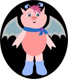 Cute Pig Bat Royalty Free Stock Photos