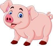 Cute pig cartoon vector illustration