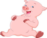 Cute pig cartoon Royalty Free Stock Photo