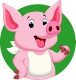 Cute pig cartoon Stock Images