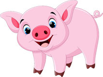 Cute pig cartoon Stock Photography