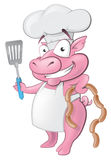 Cute Pig Chef Character.