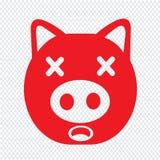 Cute pig emotion Icon Illustration sign design stock photos