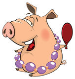 A cute pig farm animal cartoon Stock Image
