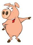 A cute pig farm animal cartoon Royalty Free Stock Image