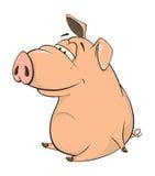 A cute pig farm animal cartoon Royalty Free Stock Photos