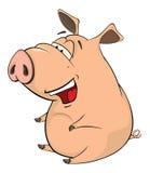A cute pig farm animal cartoon Stock Photos