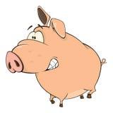 A cute pig farm animal cartoon Royalty Free Stock Images