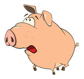 A cute pig farm animal cartoon Royalty Free Stock Photography