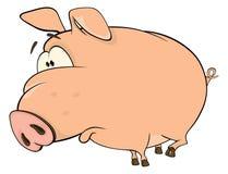 A cute pig farm animal cartoon Stock Photography