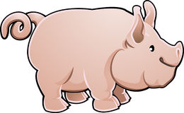 Cute Pig Farm Animal Vector  Stock Photography