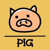 Cute pig hand-drawn style, vector illustration. Cute pig hand-drawn style,drawing,hand drawn vector illustration Stock Photos