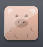 Cute pig icon Stock Photography
