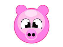 Cute pig illustration comic Stock Images