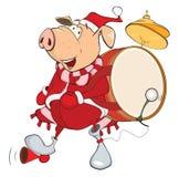 Cute Pig Musician Cartoon Royalty Free Stock Image