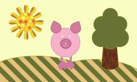 Cute pig. Stock Photo
