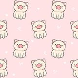 Cute pig Seamless Pattern Background royalty free illustration