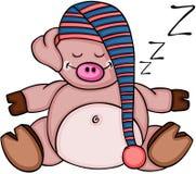 Cute pig sleeping Stock Image