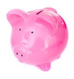 Cute piggy bank Royalty Free Stock Images