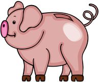 Cute piggy bank Stock Photography